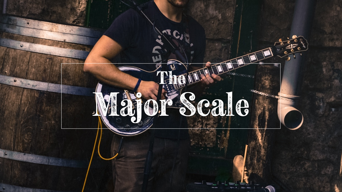 Major scale on guitar hero image