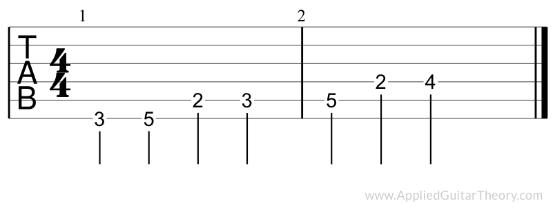 Major scale tab no 7th