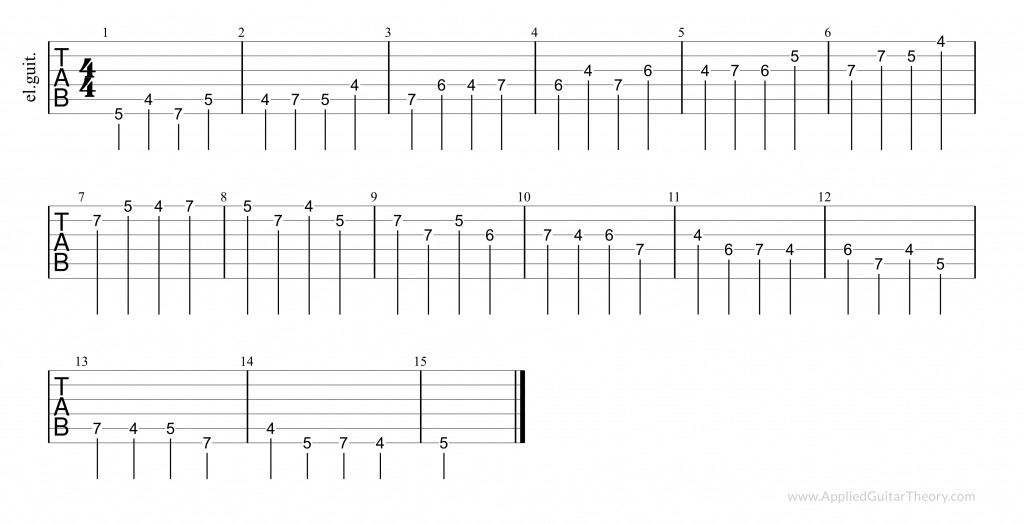 Finger independence exercises - tab 3