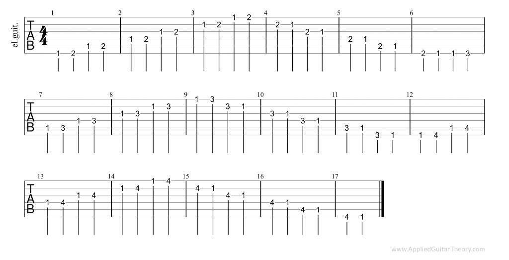 Finger independence exercises - tab 9