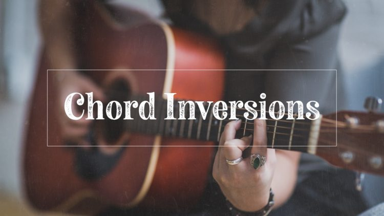 Guitar chord inversions on acoustic guitar