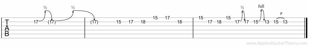 Slash November Rain guitar lick tab