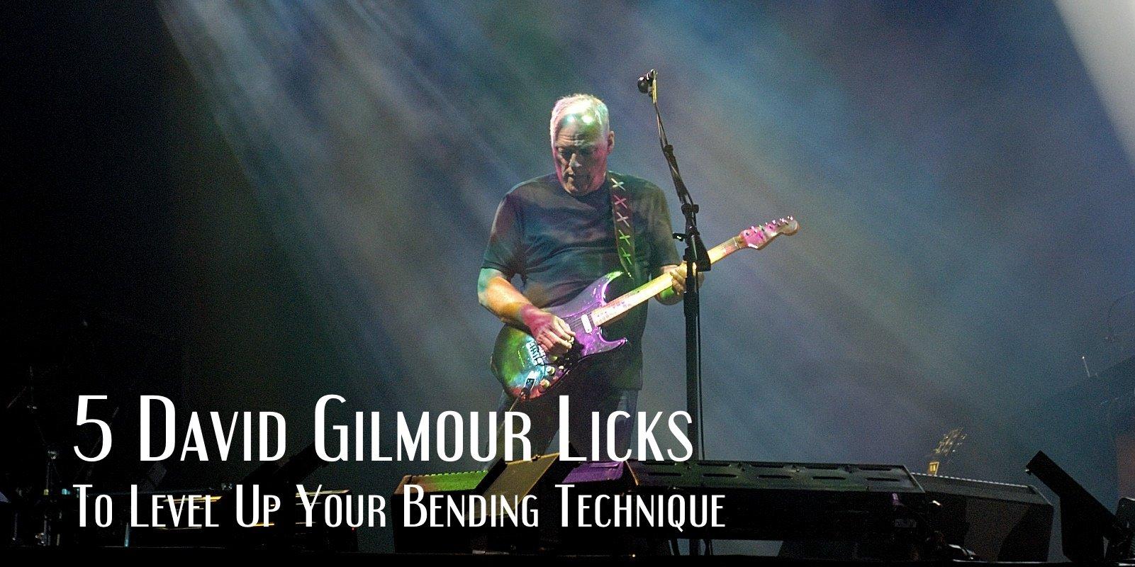 David Gilmour licks