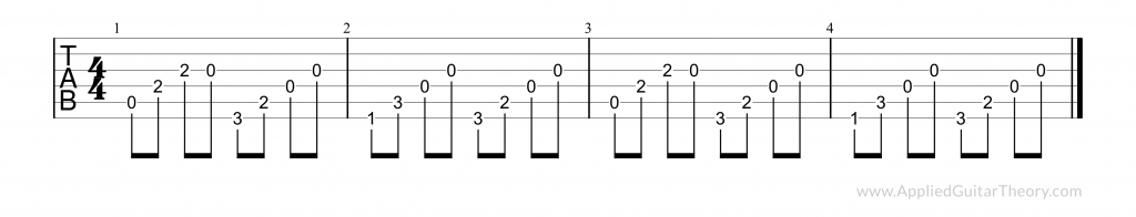 The Reaper picking technique tab