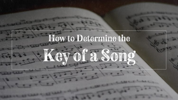 How to determine the key of a song