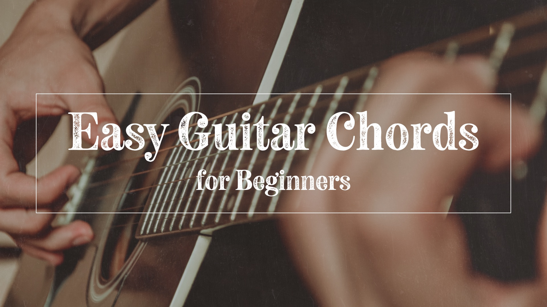 Easy guitar chords for beginners hero