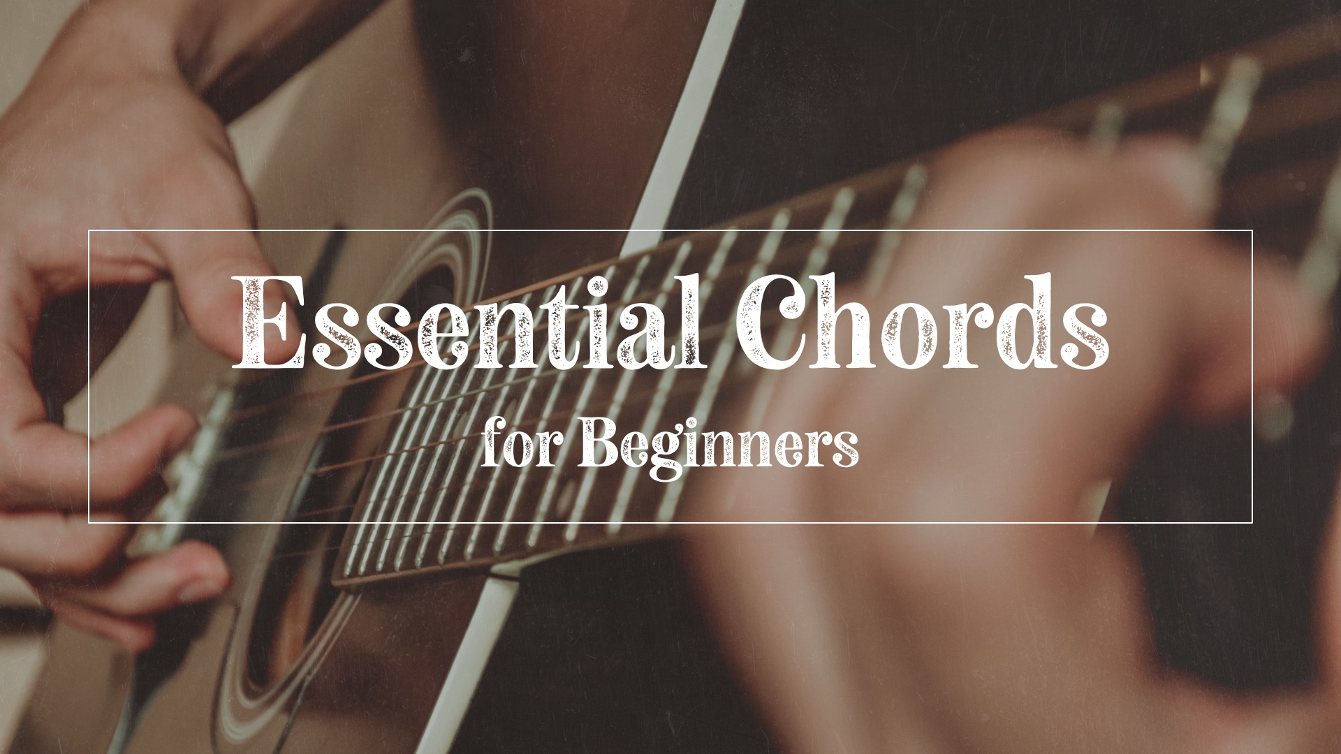 Person playing essential guitar chords for beginners