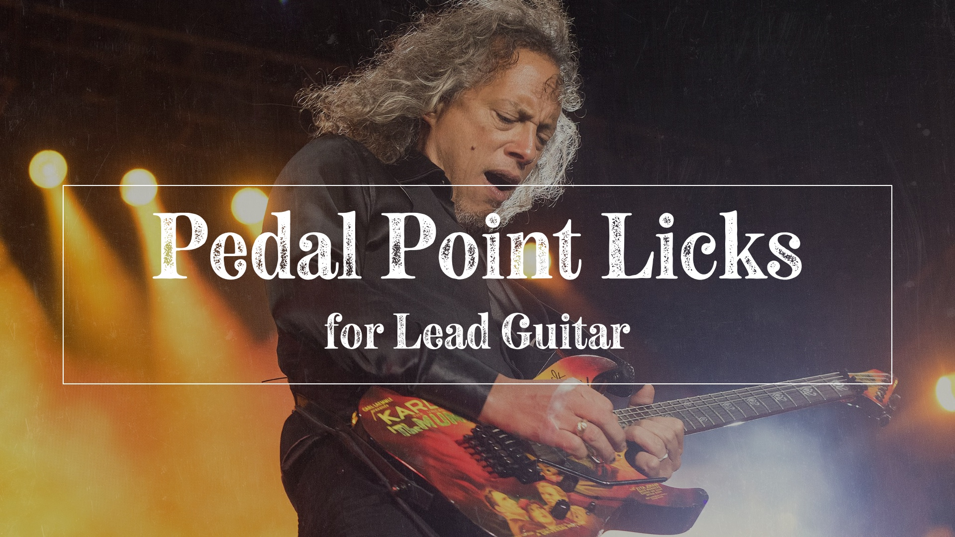 Pedal point exercises for lead guitar
