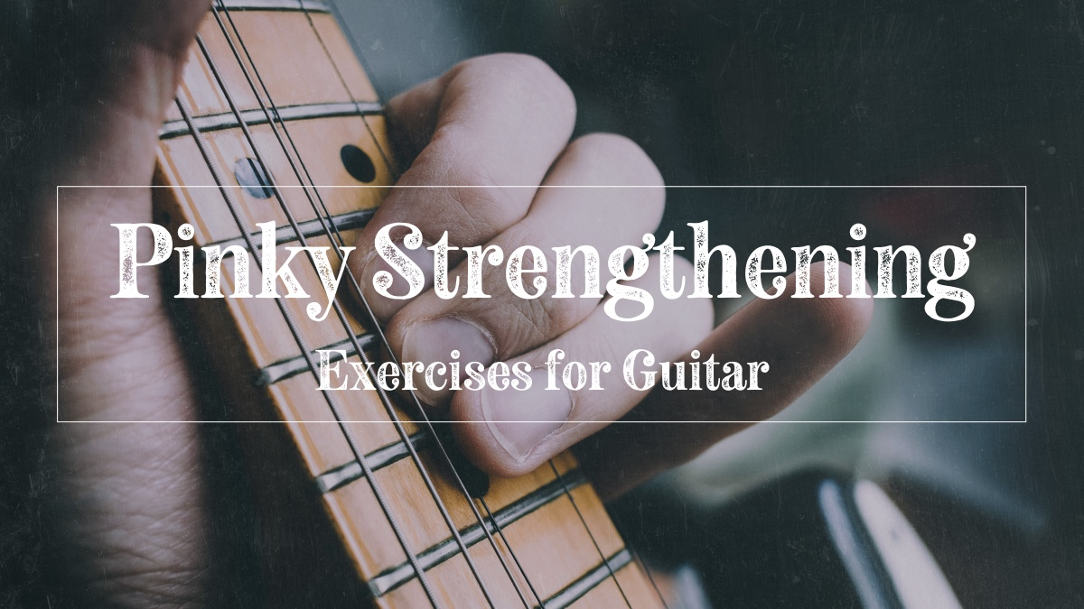 Guitarist doing pinky strengthening exercises on guitar