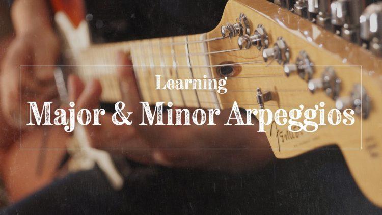 Major and minor guitar arpeggios