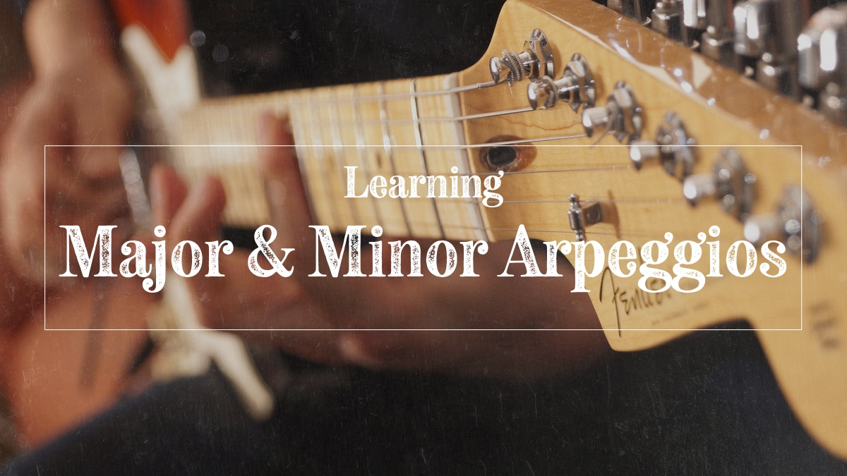 Major and minor guitar arpeggios