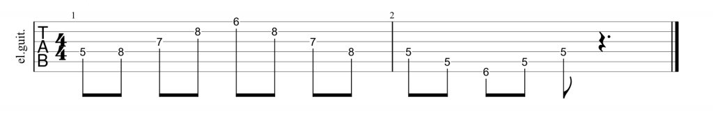 Guitar tab for d shape minor chord and arpeggio
