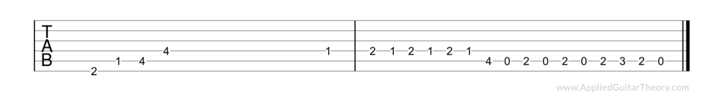 Jimmy Page Out on the Tiles riff tab