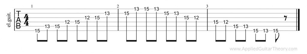 Pentatonic position 5 guitar tab