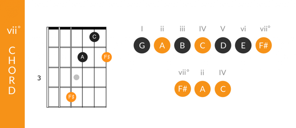 Function of the vii chord in the major keys