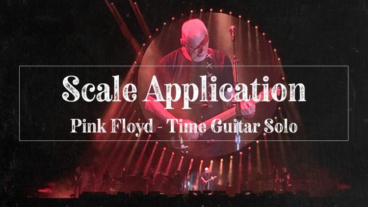 Pink Floyd's David Gilmour playing guitar