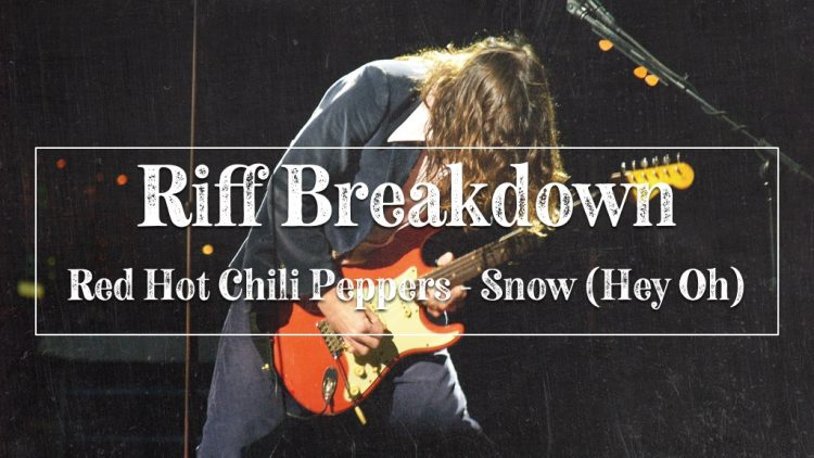 John Frusciante of Red Hot Chili Peppers playing guitar