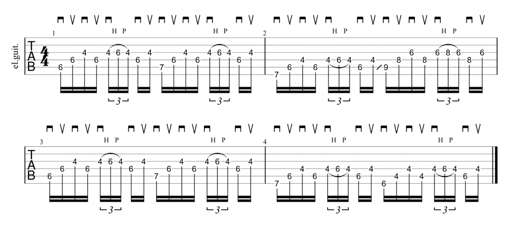 Red Hot Chili Peppers Snow riff guitar tablature