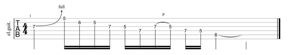 Guitar tab for opening lick in Stairway to Heaven guitar solo