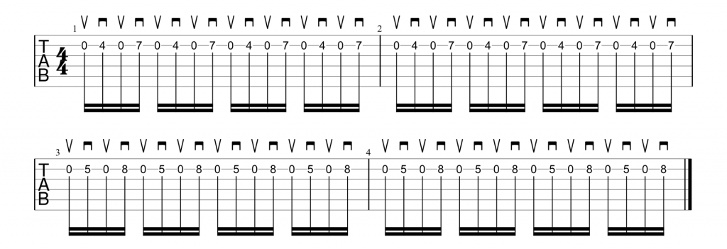 AC/DC Thunderstruck alternate picking intro riff
