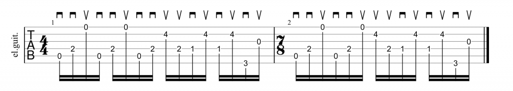 Queensryche Suite Sister Mary opening riff picking technique guitar tab
