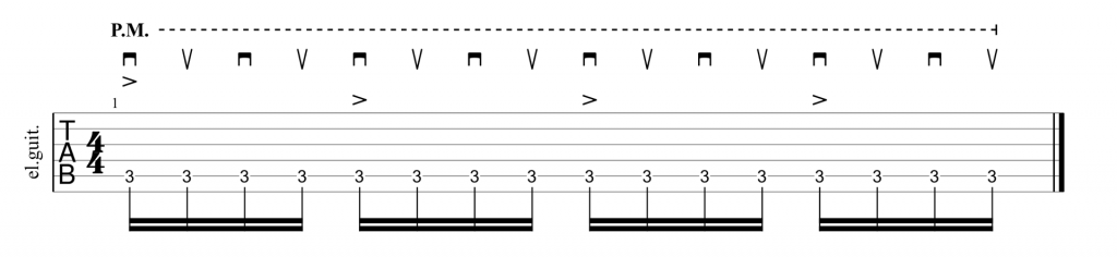 Survivor Eye of the Tiger alternate picking riff