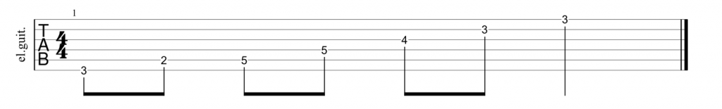 Guitar tab for E shape major arpeggio pattern