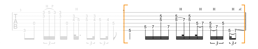 Guitar tab for Am lick in Little Wing by Jimi Hendrix