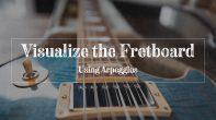 Les Paul guitar fretboard