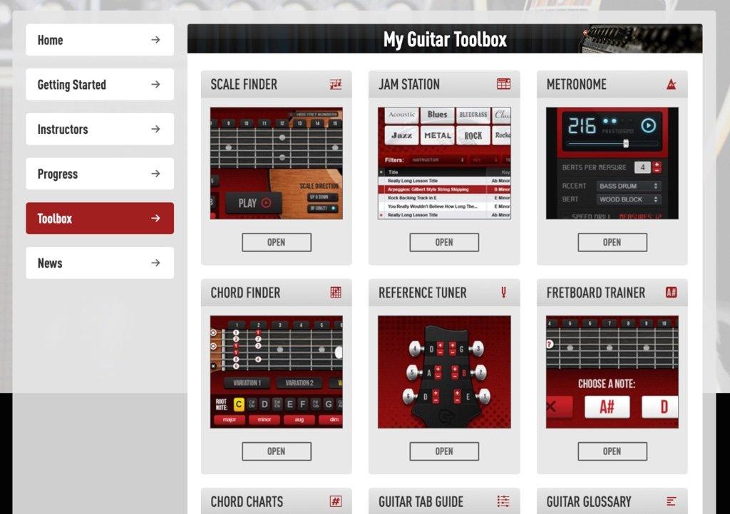 Guitar Tricks toolbox