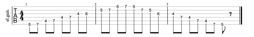 Major pentatonic scale tab