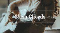 Girl playing guitar chords