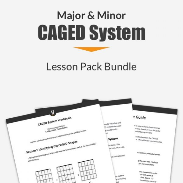CAGED system lesson pack bundle thumbnail