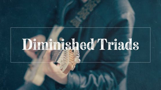 Diminished triads guitar player