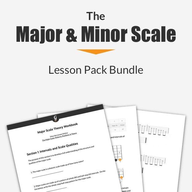 Major Minor scale lesson pack bundle thumbnail