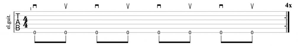Alternate picking exercise guitar tab