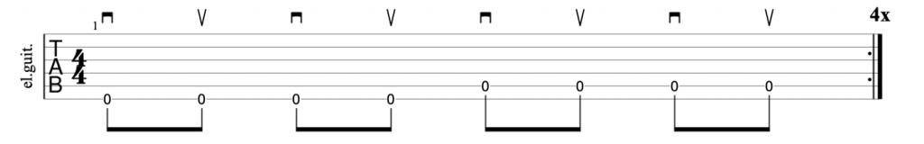 Alternate picking exercise multiple strings