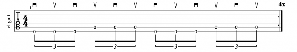 Alternate picking triplets on multiple strings