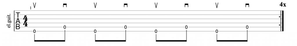 Alternate inside picking exercise guitar tab