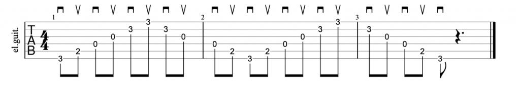 Arpeggiating chords alternate picking exercise guitar tab