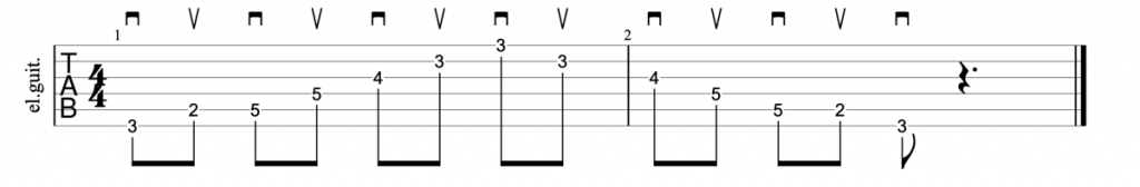 Alternate picking guitar arpeggios tab