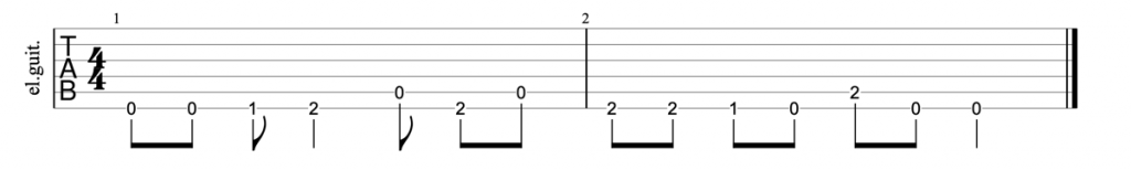 Nirvana Come As You Are guitar riff tab