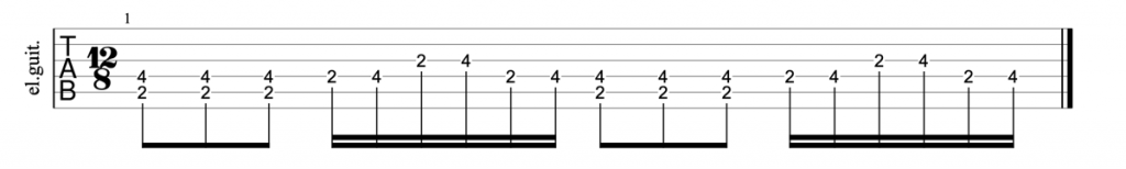 Led Zeppelin Dazed and Confused guitar riff tab