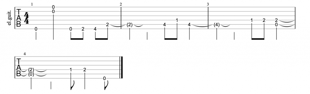 Journey Don't Stop Believing guitar riff tab