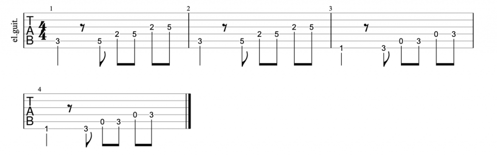 The Temptations My Girl guitar riff tab