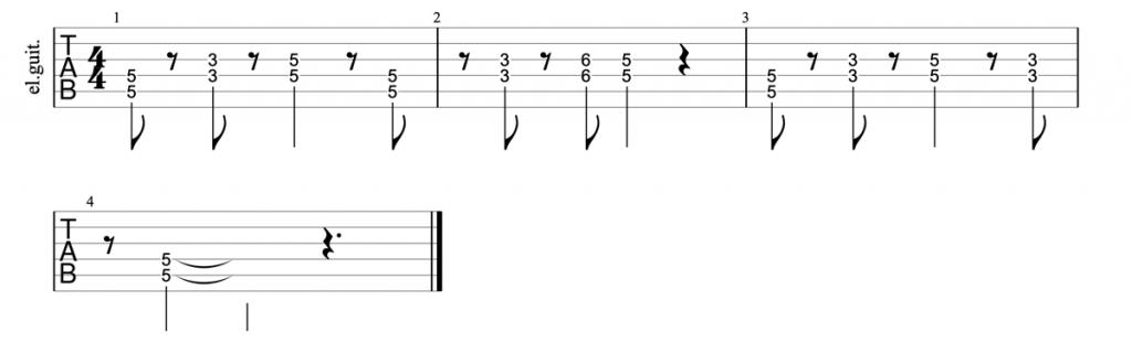 Deep Purple Smoke on the Water riff guitar tab