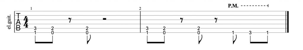 Megadeth Symphony of Destruction riff guitar tab